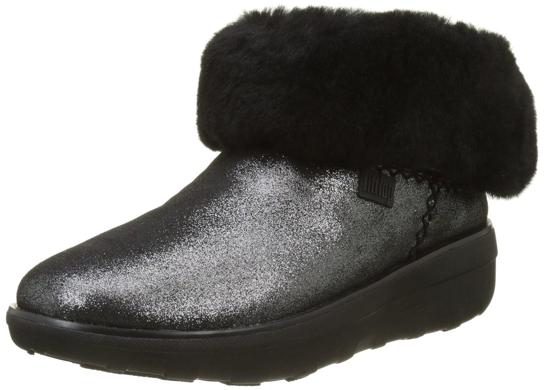 Fitflop Mukluk Shorty 2 Shimmer Boots, Botines para Mujer36 EU|Negro (Black)