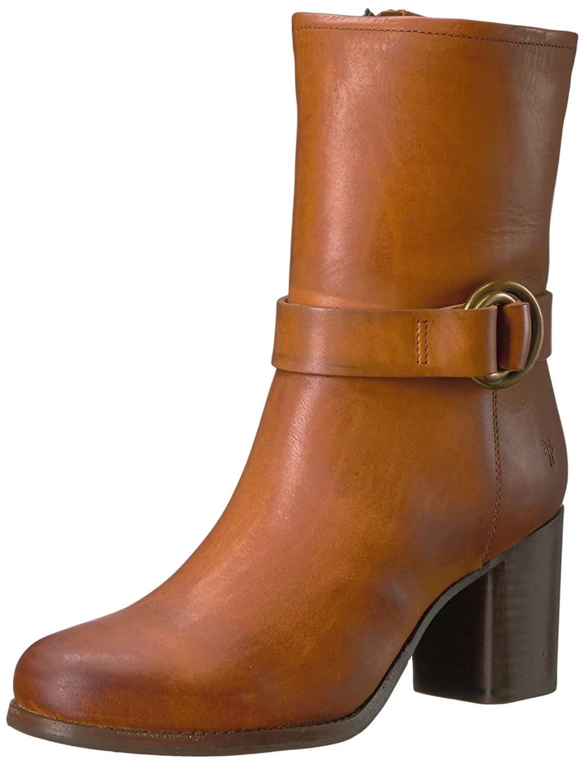 FRYE Women's Addie Harness Mid Boot B01MY72DL8 5.5 B(M) US|Brown Smooth Vintage Leather