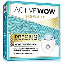 Active Wow Teeth Whitening Kit - LED Light, 36% Carbamide Peroxide, Mint - (3) 5ml...