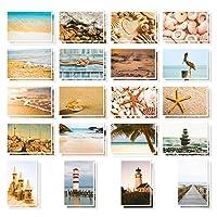 Nautical Beach Seaside Postcards - 40 Glossy Postcards - Bulk Set - Featuring Boats...