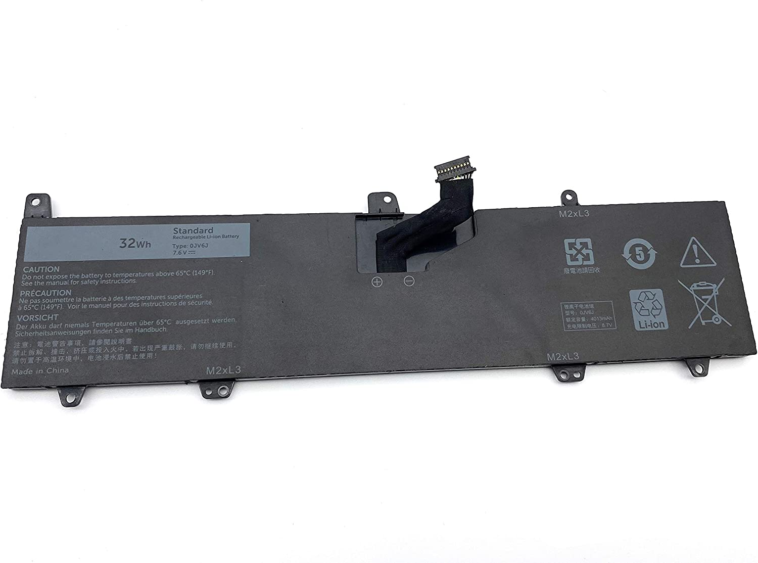 ENHONGFENG 0JV6J 7.6V32Wh Replacement Laptop Battery for Dell Inspiron 11 3162 Inspiron 11 3164 Inspiron 11 3168 Series