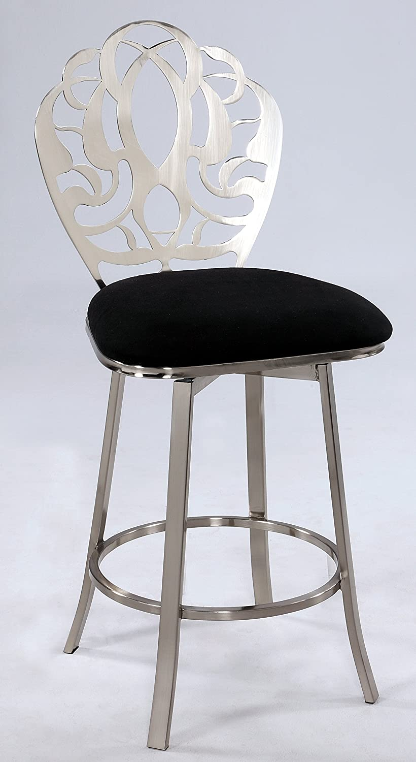 Chintaly Imports 0404 Laser Cut Back Memory Swivel Counter Stool