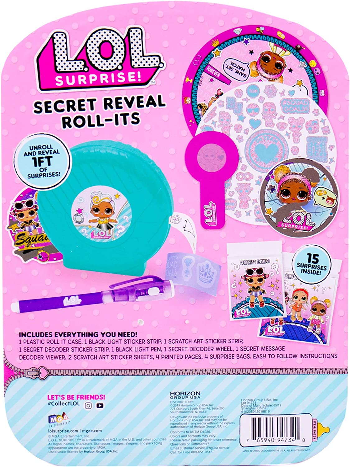 Jewelry Roll-Its by Horizon Group Usa L.O.L Surprise