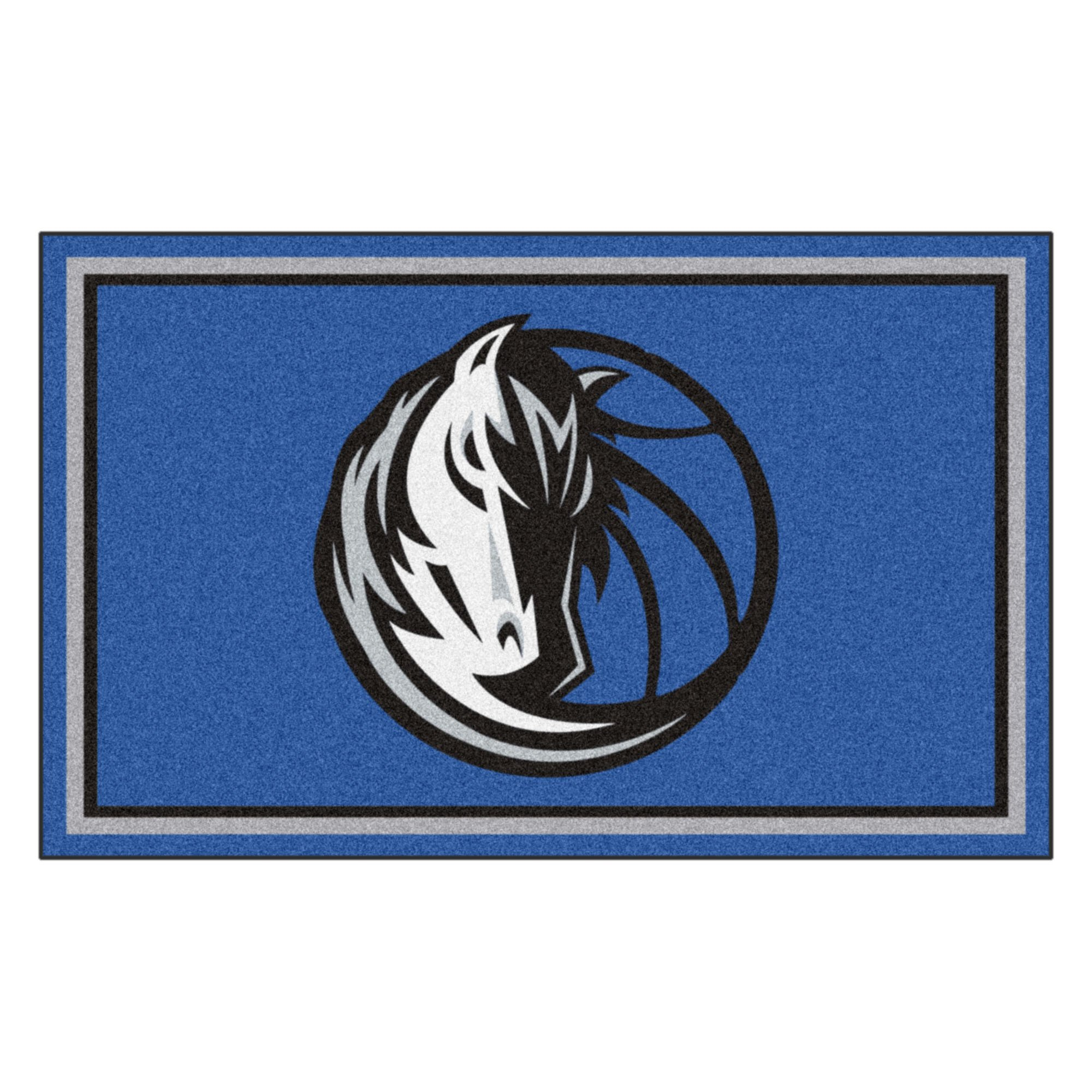 FANMATS 20424 NBA - Dallas Mavericks 4'X6' Rug, Team Color, 44''x71''