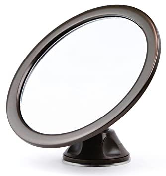 Fogless Fog Free Shower Mirror With Rotating, Locking Suction Cup Sticks To  Wet Shower Walls