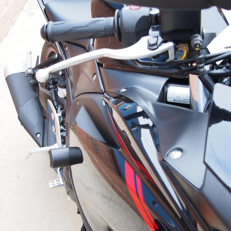 Amazon.com: Vagabond Motorsports VM-Y320 Yamaha YZF-R3 Frame Sliders ...