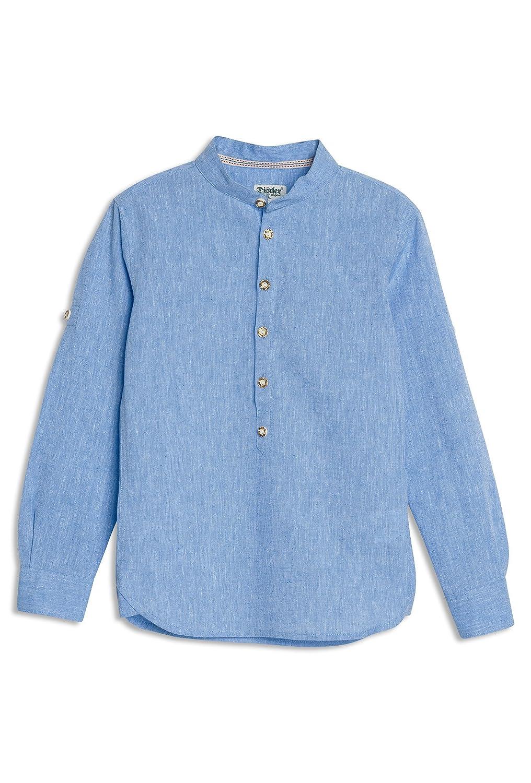 DISTLER Jungen-Hemd in Leinenoptik CORBI Kinder,Trachten,Hemden,langarm,Leinen,festlich