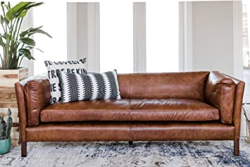 Great Amazon.com: Edloe Finch Modern Leather Sofa   Mid Century Modern Couch    Top Grain Brazilian Leather   Cognac Brown: Kitchen U0026 Dining