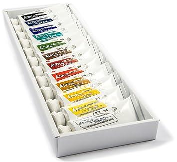 Daveliou Acrylfarben Set 12 Ungiftige Acrylfarben 32ml