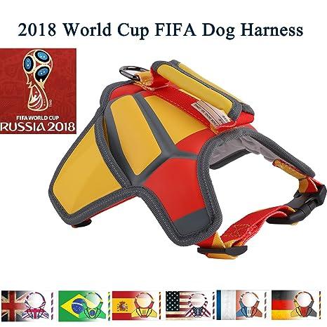 Flightbird Arnés para Perro Chaleco, 2018 Rusia de Fútbol Ajustable y Transpirable Chaleco de Mascota