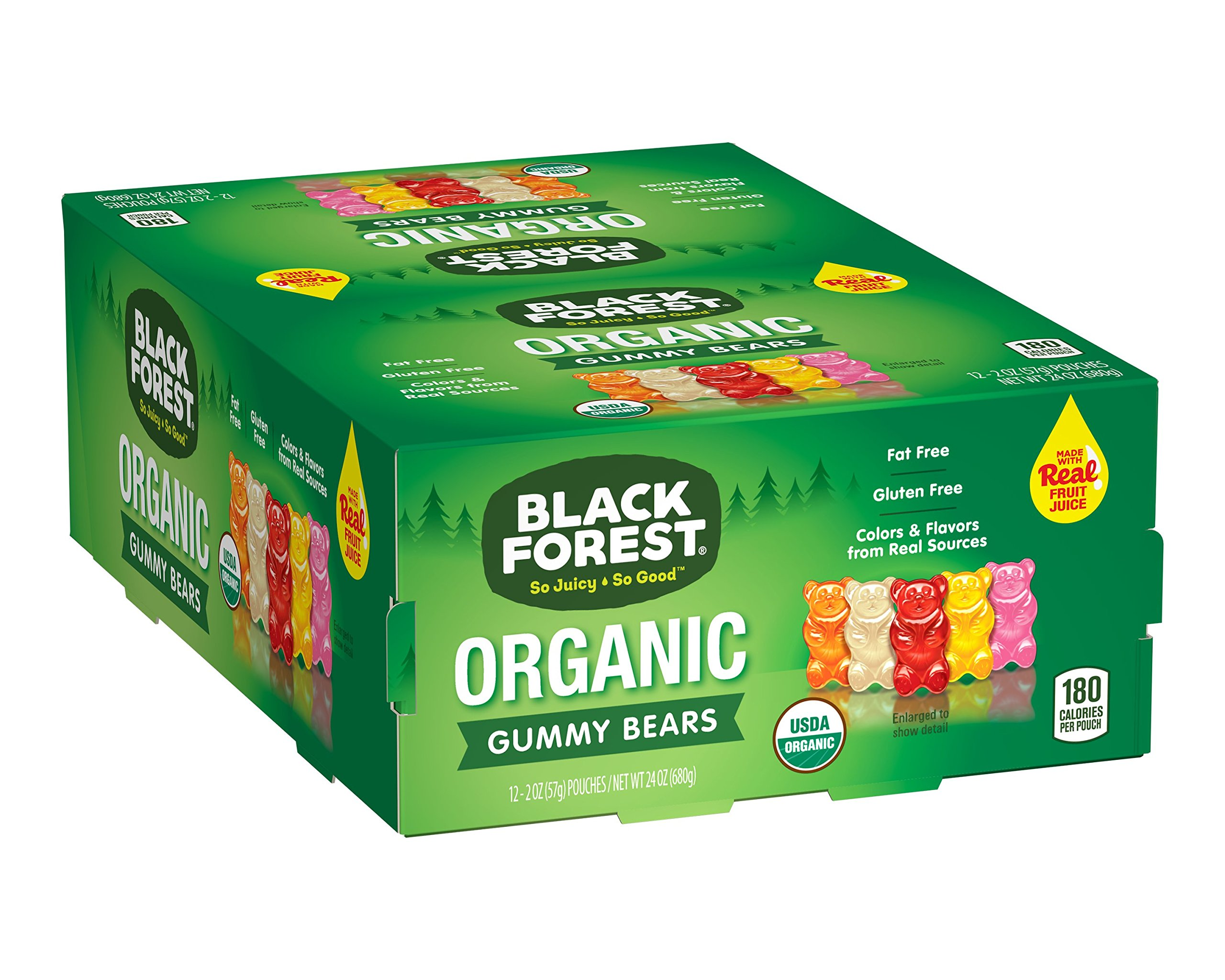 Black Forest Organic Gummy Bears Candy, 2-Ounce Bag (Pack of 12)