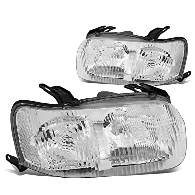 DNA Motoring HL-OH-019-CH-CL1 Pair of Headlight Assembly [01-04 Ford Escape]: Automotive
