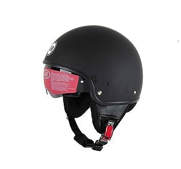 57 cm M BHR Motorrad Helm 802 Demi-Typ mit Visier Versenkbare,matt gr/ün