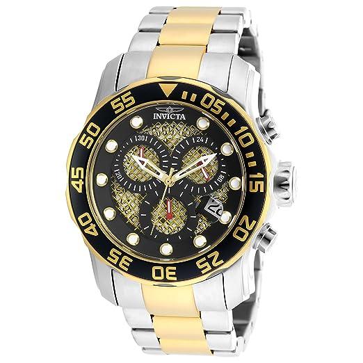 Invicta 19839 Pro Diver Reloj para Hombre acero inoxidable Cuarzo Esfera negro: Invicta: Amazon.es: Relojes