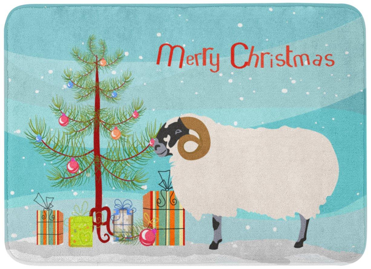 Carolines TreasuresScottish Blackface Sheep Christmas Floor Mat 19 x 27 Multicolor