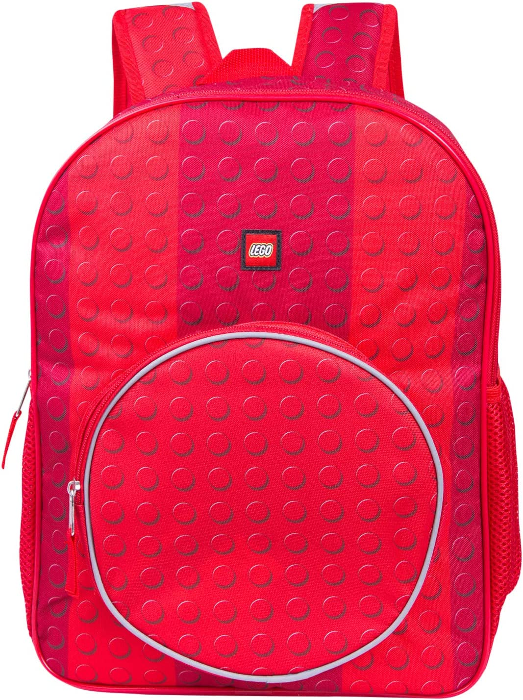 LEGO Classic Red Brick Backpack - Lego Backpack With Zippered Front Pocket (Red)