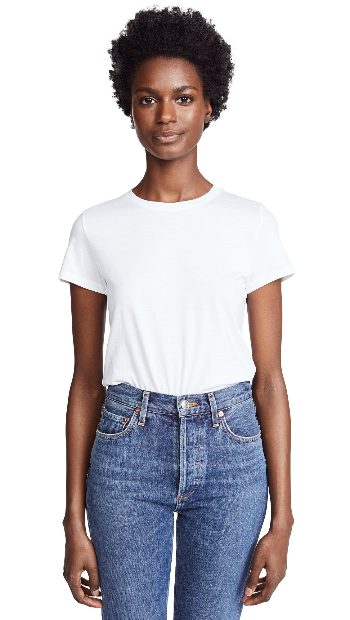 Vince Women's Essential Crew Tee, Optic White, Small