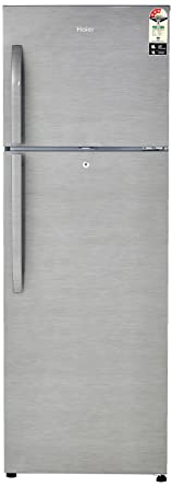 Haier 335 L 3 Star Frost Free Double Door Refrigerator(HRF-3554BS-E, Brushline Silver)