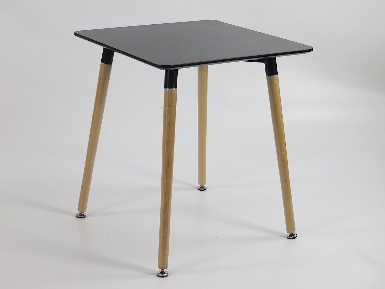 Tisch 60x60 Schwarz.Inspiration Retro Tisch Mdf 60x60 In Schwarz Amazon De
