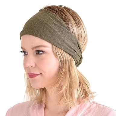 d93991d0f43209 Casualbox Leinen Kopf Band Bandana natürlich elastisch Haarband Sport Mode  Wickeln Beige