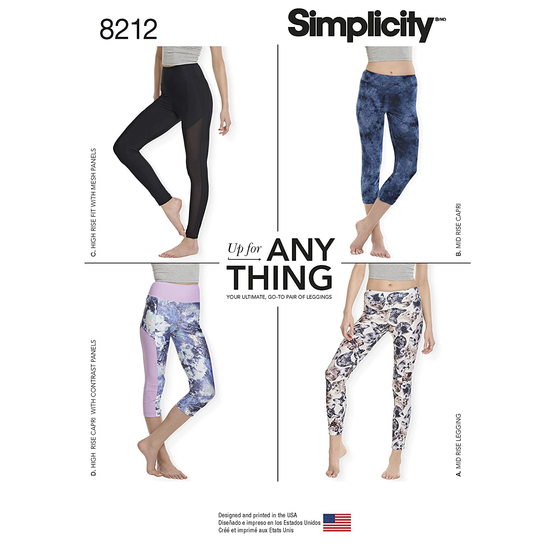 Simplicity Creative Patterns Simplicity Pattern 8212 Misses Knit Leggings