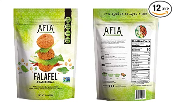 Non Gmo Project Verified Frozen Gluten Free Vegan Falafel Pack Of 12 Bags 180 Count Falafel Just Heat And Eat Amazon Com Grocery Gourmet Food