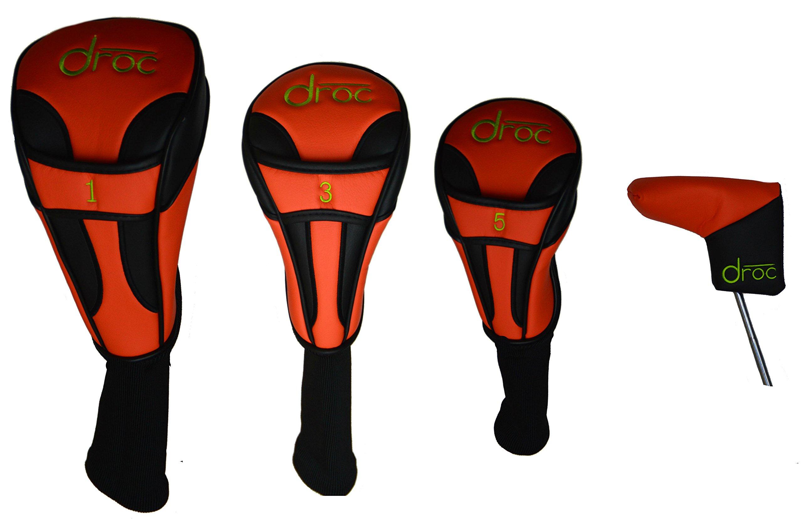 droc - Mica Left Handed Series 7 Pieces Golf Club Set & Golf Bag Ages 3-6 Left Handed (Titanium, Regular) by droc (Image #9)