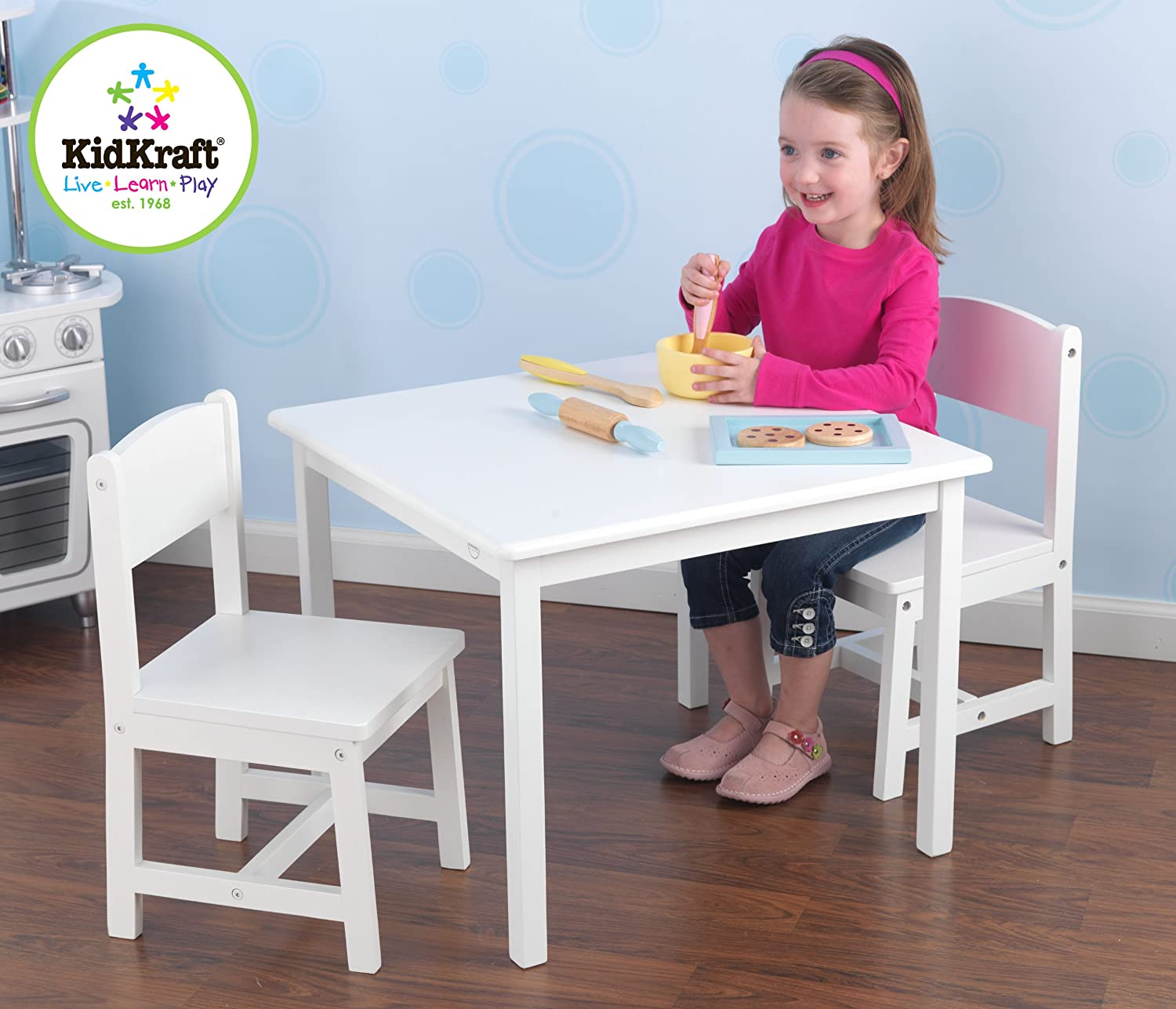 Amazon Kidkraft Aspen Table and Chair Set White Kitchen
