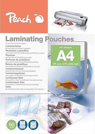Amazon.com : Peach Laminating Pouches A4, 60 Mic, Ppr060-02 ...