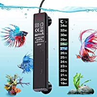 Adjustable Temperature Submersible Thermostat Heater,25W//50W//100W//150W//200W//300W Bnzaq Fish Tank Aquarium Heater