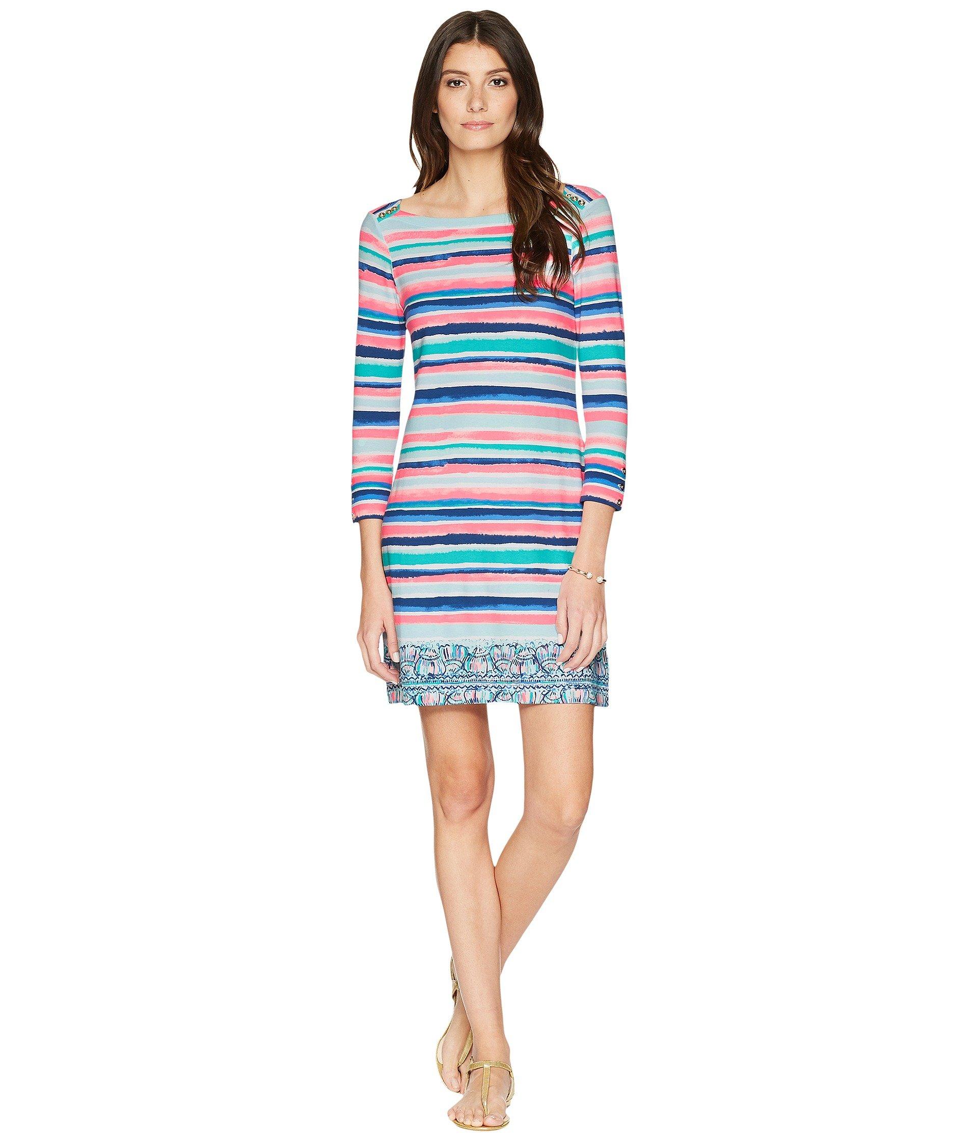 Lilly Pulitzer Women's UPF 50+ Sophie Dress, Multi Sandy Shell Stripe, L