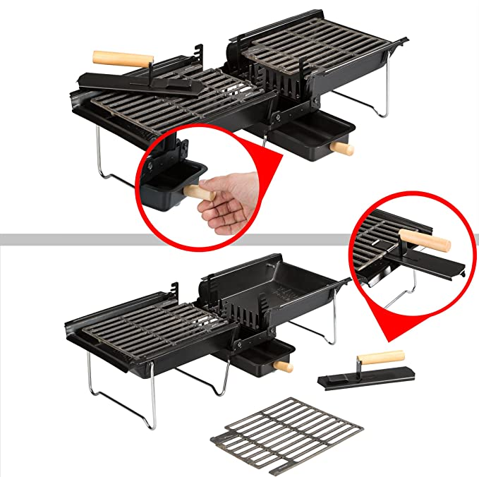 Son of Hibachi Charcoal Grill Newest Model Incl Additional Grill Plate Set