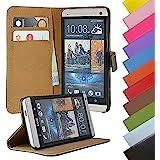 EximMobile - Book Case Handyhülle für HTC One Max mit Kartenfächer in Schwarz | Schutzhülle aus PU-Leder | Handytasche als Flip Case Cover | Handy Tasche | Etui Hülle PU-Ledertasche