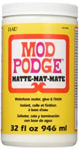 Mod Podge CS11303 Waterbase Sealer, Glue and Finish,Matte,32 Ounce