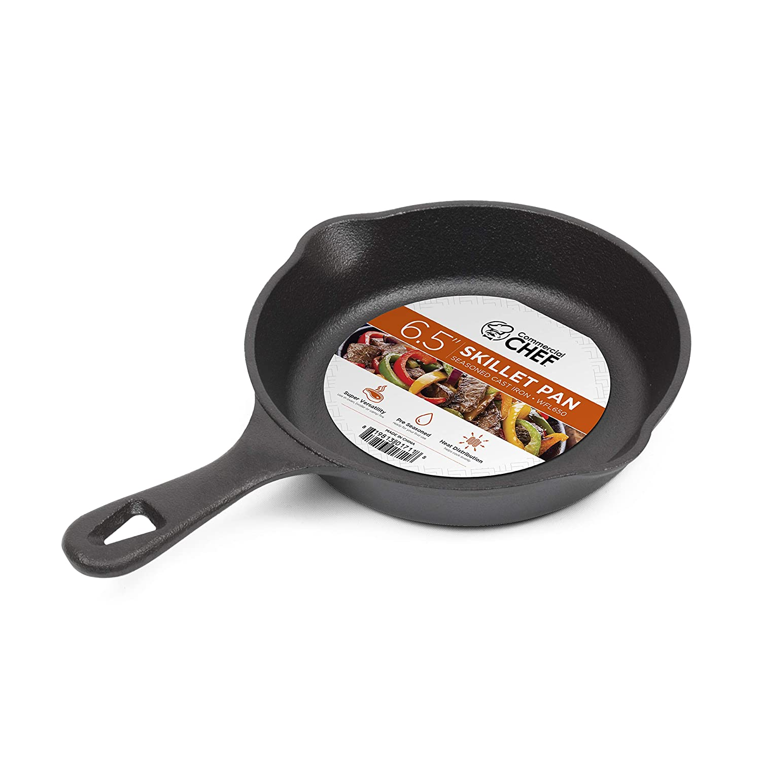 "Commercial Chef CHFL650 6.5"" Skillet, Inches, Black"