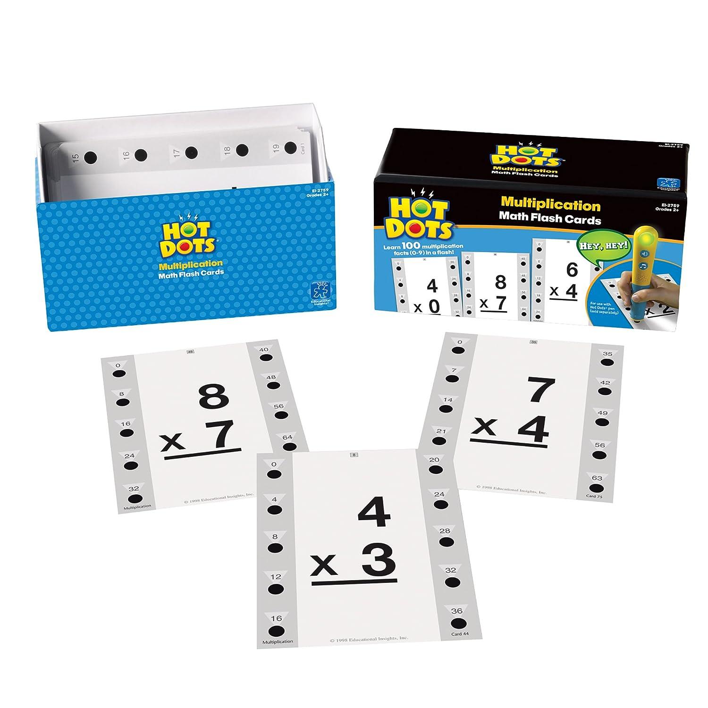 Educational Insights Hot Dots Math Flash Cards Multiplication
