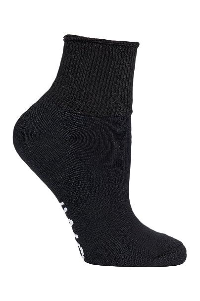 IOMI Hombre y mujer calcetines algodon diabeticos cortos sin elásticos para verano en blancos y negros: Amazon.es: Ropa y accesorios