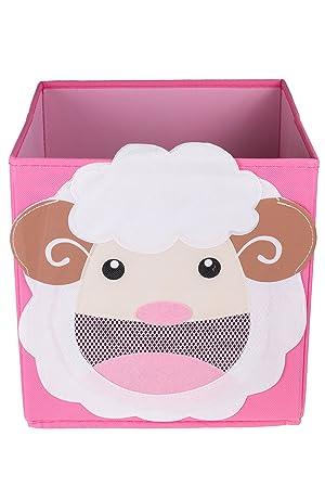 Caja plegable para guardar cosas y organizar armarios - Decoración infantil - Oveja sonriente