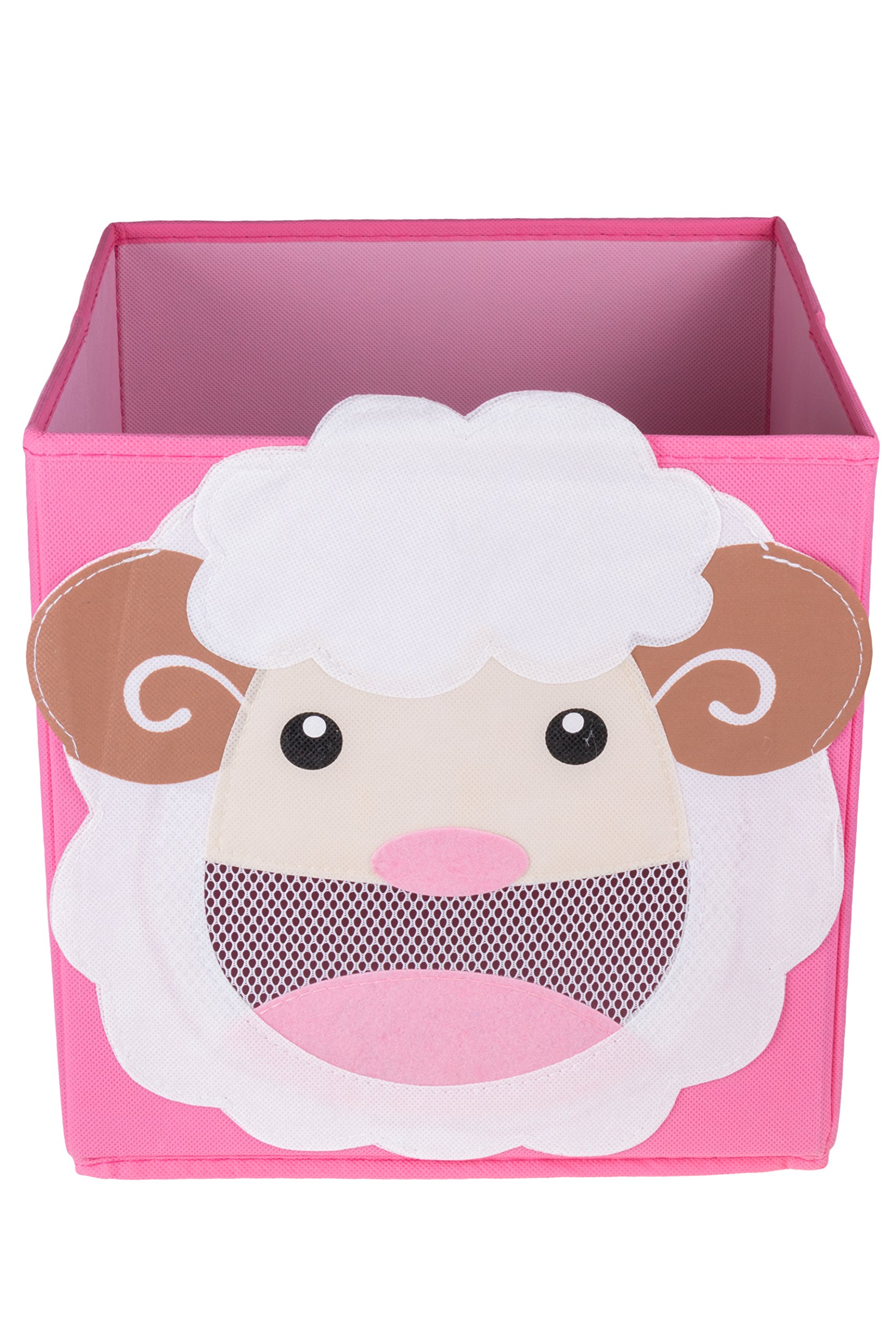 Clever Creations Cute Smiling Sheep Collapsible Toy Storage Organizer Toy Box Folding Storage Cube Kids Bedroom | Perfect Size Storage Cube Books, Kids Toys, Baby Toys, Baby Clothes
