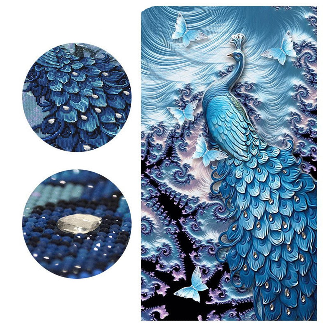 Mazixun Special Shaped''Peacock Butterfly''Animal Diamond Embroidery Full DIY Diamond Painting Diamond Mosaic Bead Diamant Picture