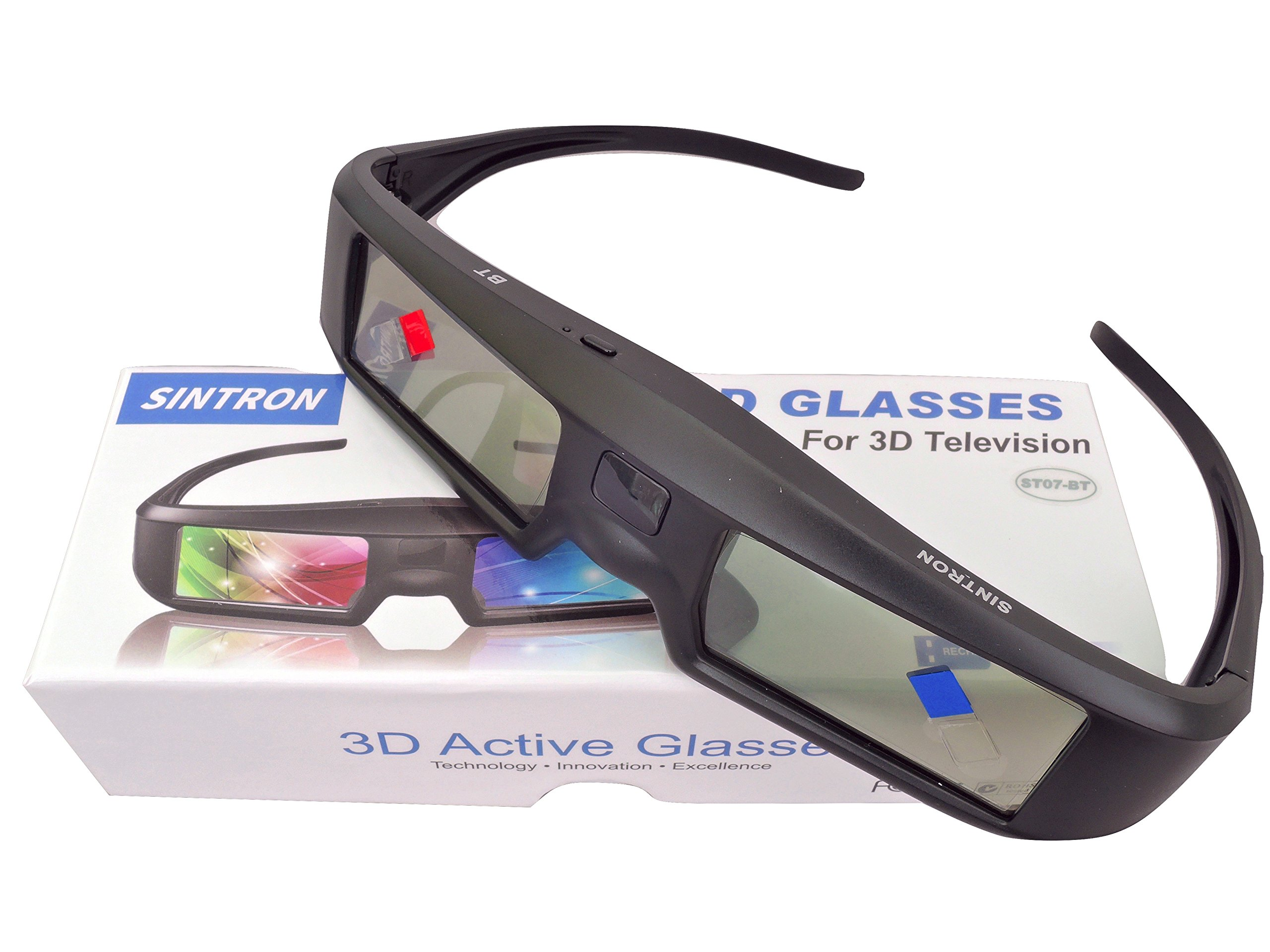 2X 3D Active Shutter Glasses Rechargeable - Sintron ST07-BT for RF 3D TV, 3D Glasses for Sony, Panasonic, Samsung 3D TV, Epson 3D projector, Compatible with TDG-BT500A TDG-BT400A TY-ER3D5MA TY-ER3D4MA by Sintron (Image #5)