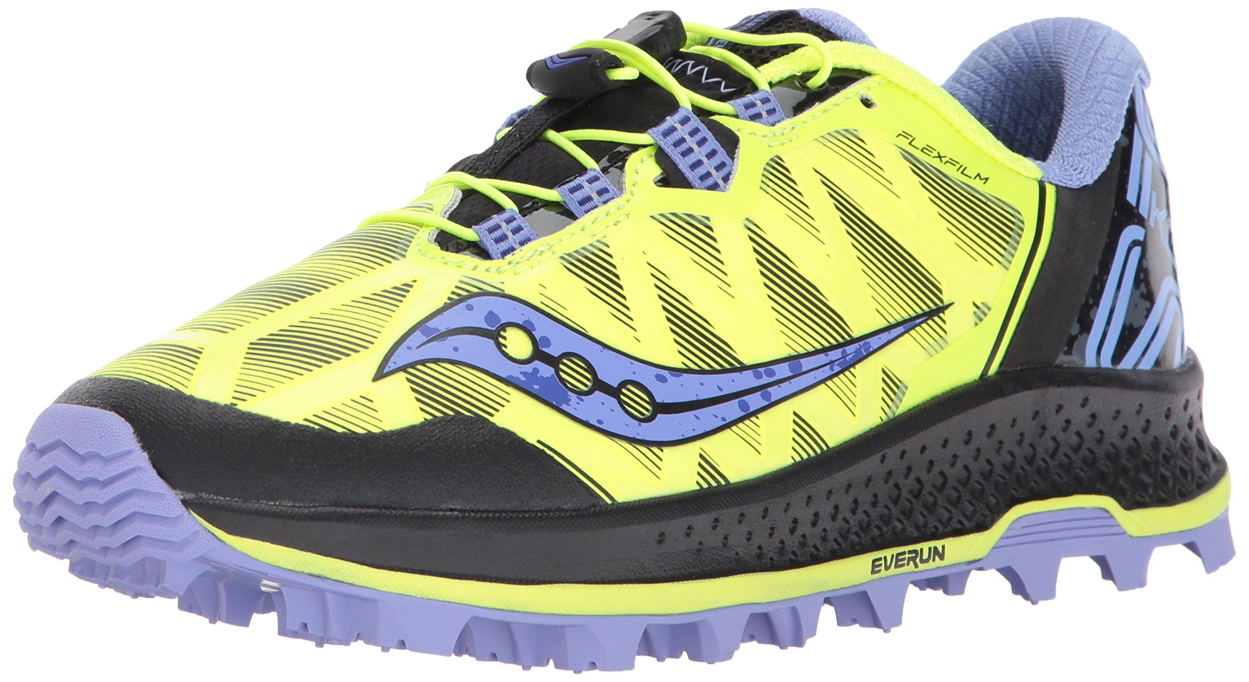 Saucony Women's Koa ST Running Shoe, Citron Purple, 10 Medium US