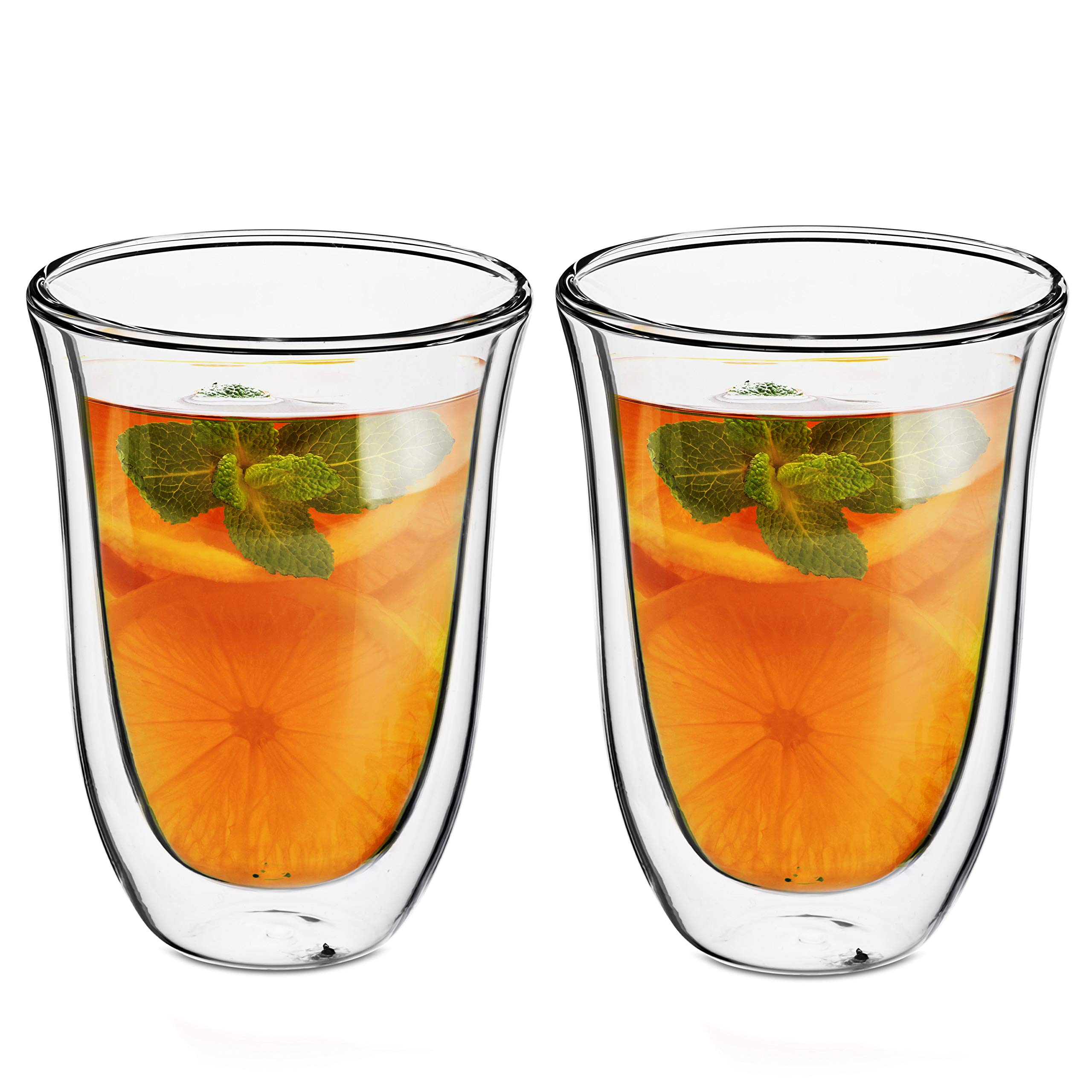 Style Setter Double Wall Tumblers – Set of 2 9.5oz Insulated Home Barware Glasses for Cold Drinks, Cocktails, Coffee, Hot Tea & Other Beverages – Unique Gift Idea for Birthday, Holiday & More