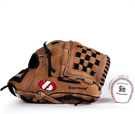 Barnett KITB-21 - Kit de béisbol con guante y pelota senior (cuero ...