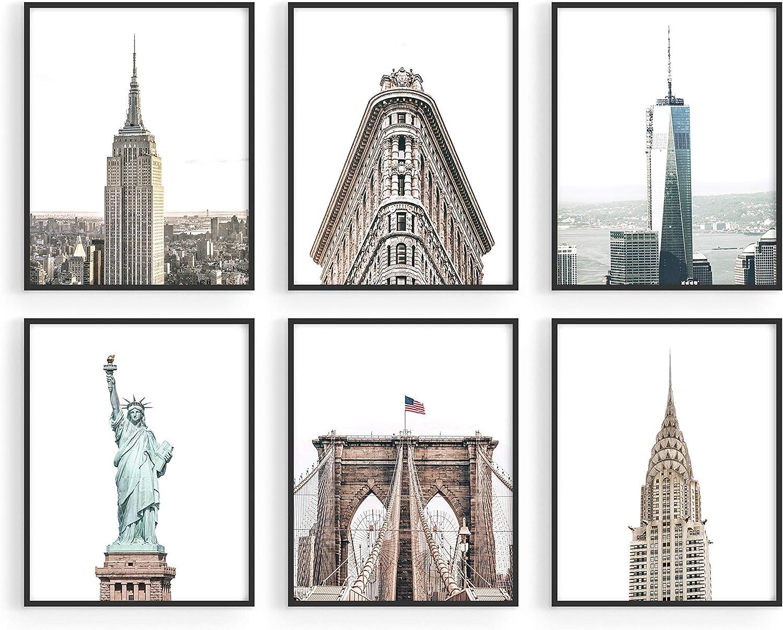 Haus and Hues New York City Wall Art and New York Posters - Set of 6 New York City Posters and NYC Wall Art | New York Wall Decor New York City Skyline NYC Wall Decor | 8