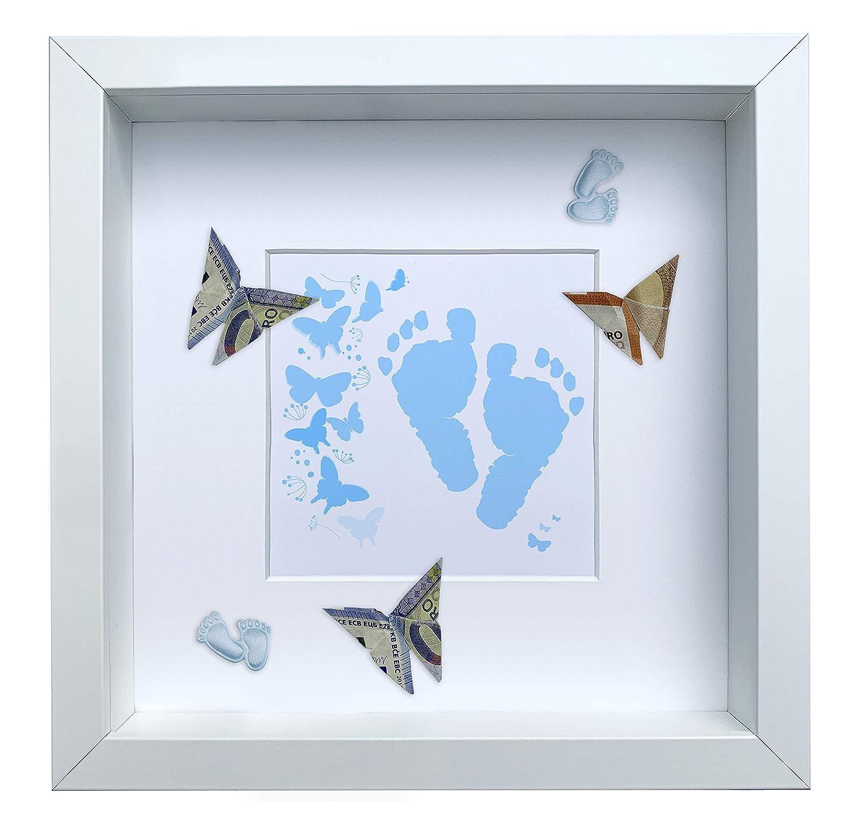 Geschenk zur Geburt Luvthings Geldgeschenk Bilderrahmen mit Motiv Serie 3 Motiv 1