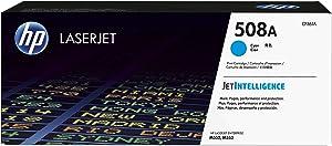 HP 508A CF361A, Cian, Cartucho Tóner Original, de 5.000 páginas, para impresoras HP Color LaserJet Enterprise serie 552, 553; LaserJet Enterprise serie 577