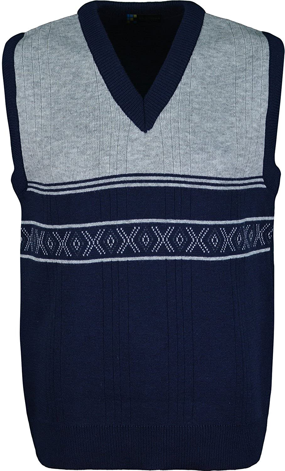 Mens Sleeveless Cardigan Knitted Waistcoat Classic Style Cardigans V Neck Sweater With Front Design