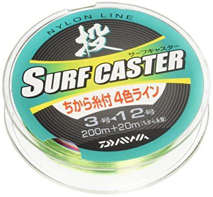 ダイワ(Daiwa)ナイロンラインサーフキャスターちから糸付きR200m+20m3号-12号マルチカラー672863の画像