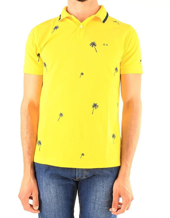 Sun68 - Polo para Hombre, Mod. Polo Amarillo A19122 23 Amarillo ...